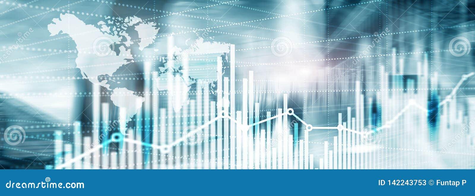 Abstrakt bakgrundsuniversal Websitetitelradtapet silhouettes för affärsfolk Ekonomisk tillväxtgrafdiagram