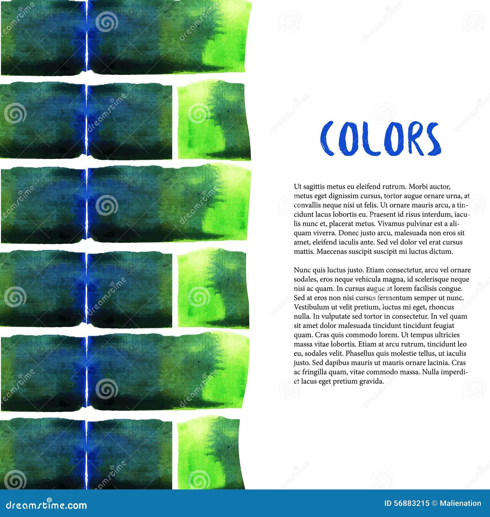 Abstrakt bakgrundsvattenfärg Färgrik tegelstengräns vatten för färgstänk för lampa för kulabegreppsenergi