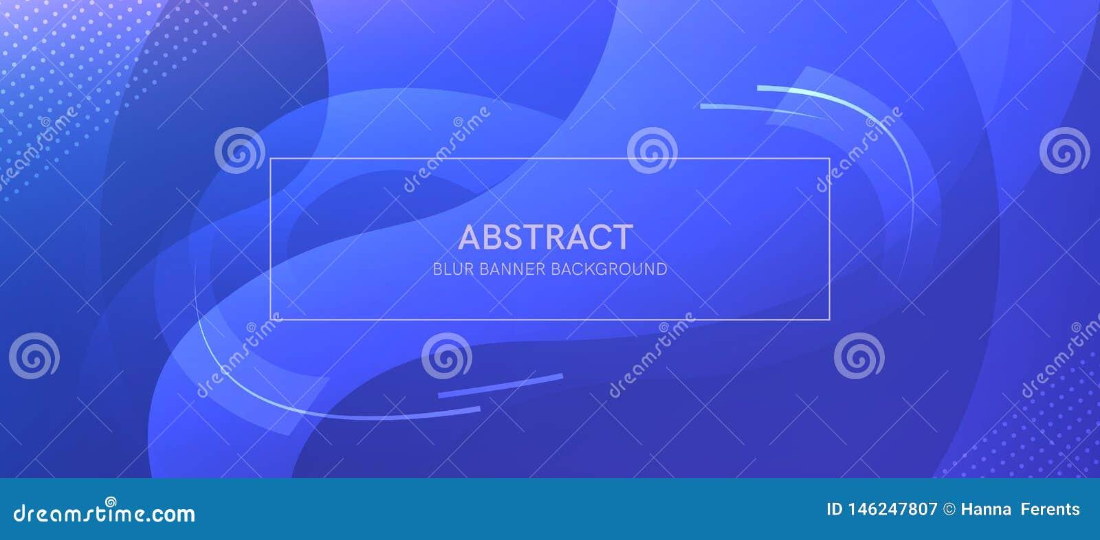 Abstrakt baner med former och suddighet f?r en lutning