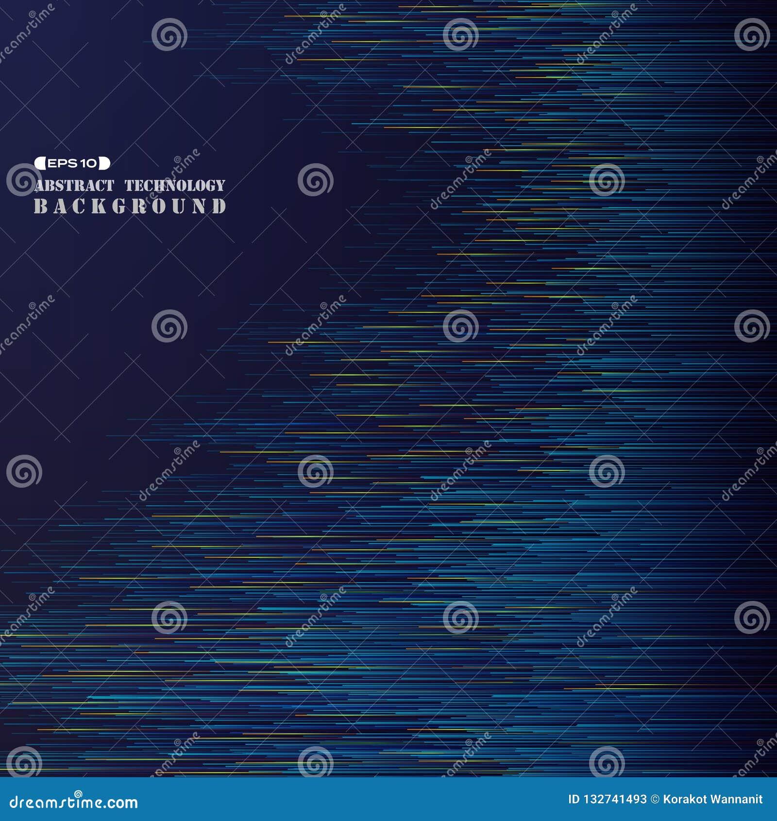 Abstrakt begrepp av den futuristiska linjen liten vik för blått band för teknologilutning