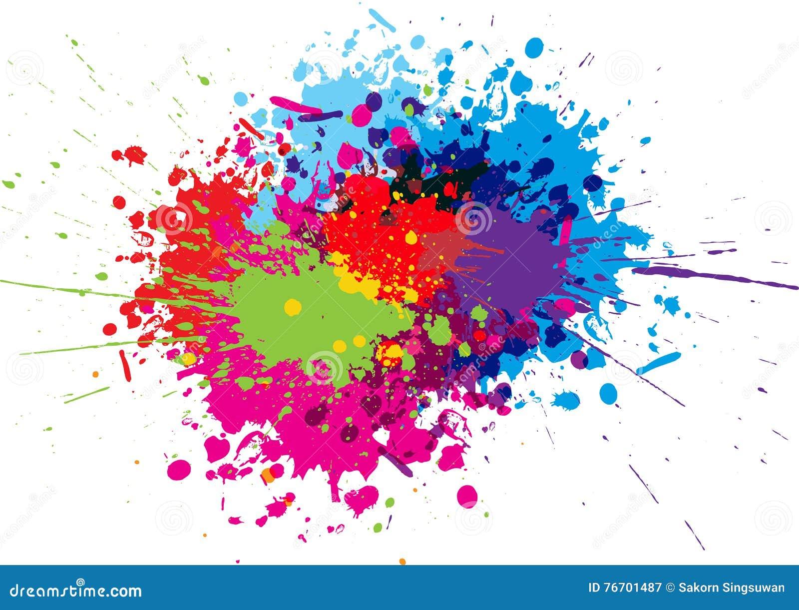 Abstrakt begrepp plaskar färgbakgrund Illustrationvektordesign