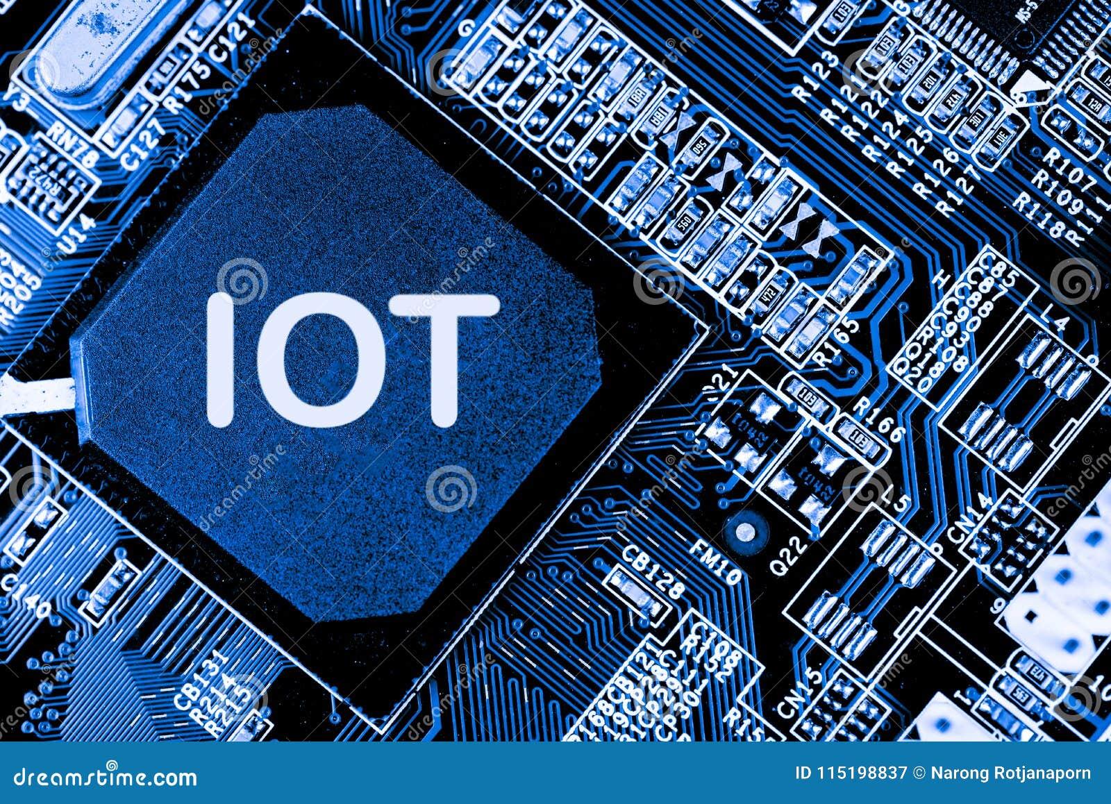 Abstrakt begrepp slut upp av bakgrund Mainboard för elektronisk dator IOT stora data, ai