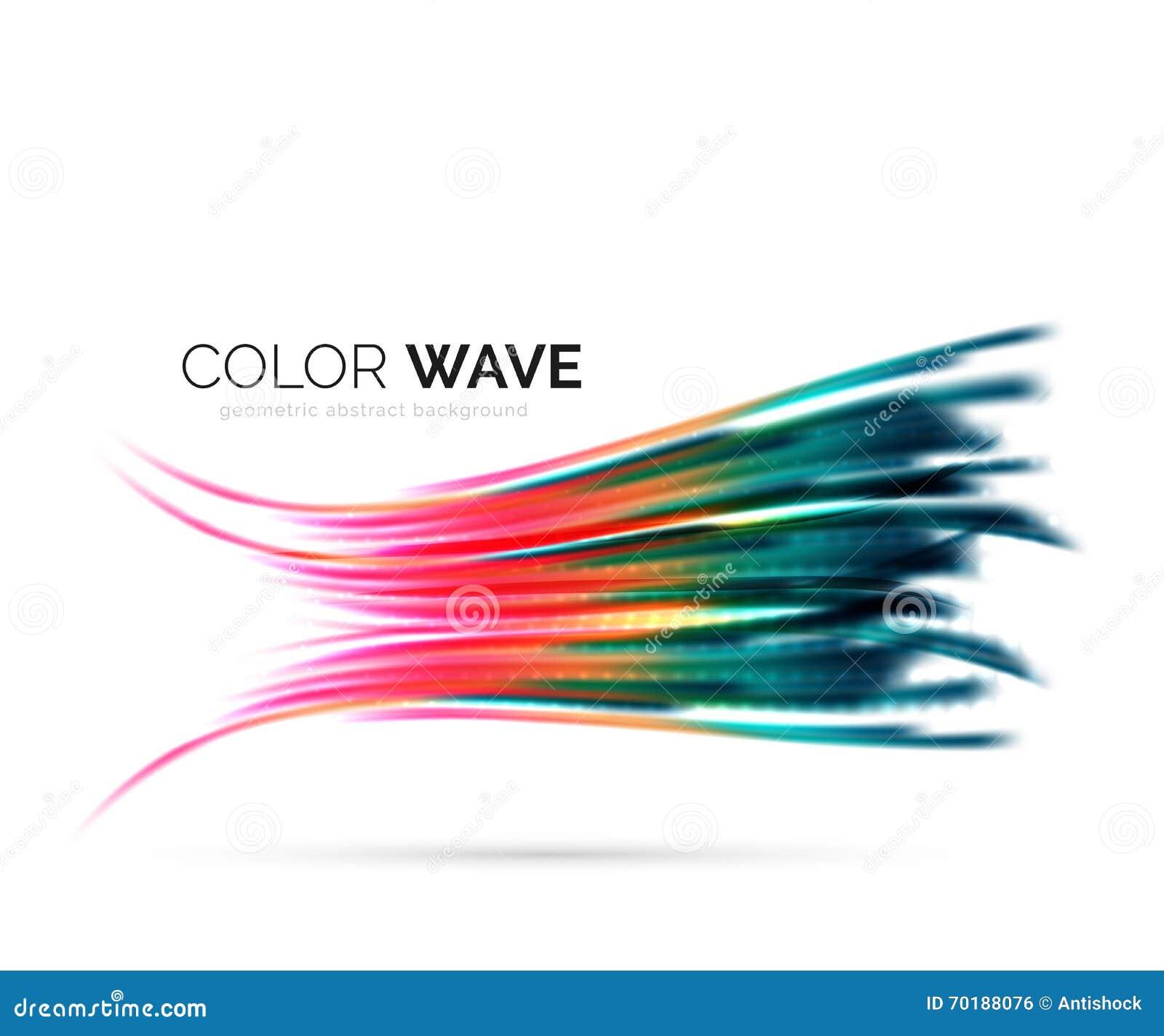 Abstrakt beståndsdel för färgvågdesign
