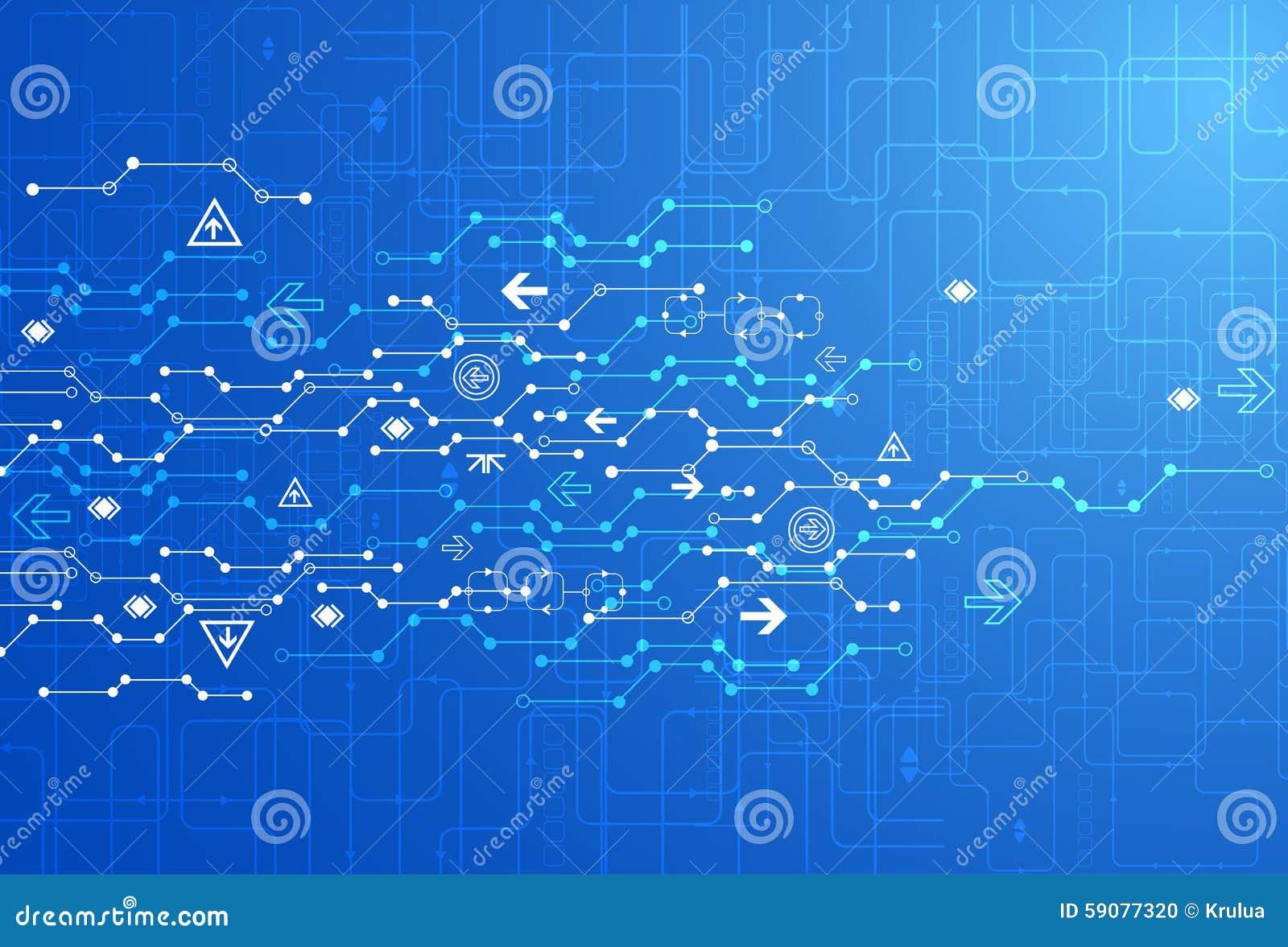 Abstrakt blå bakgrund för teknologi för digital kommunikation