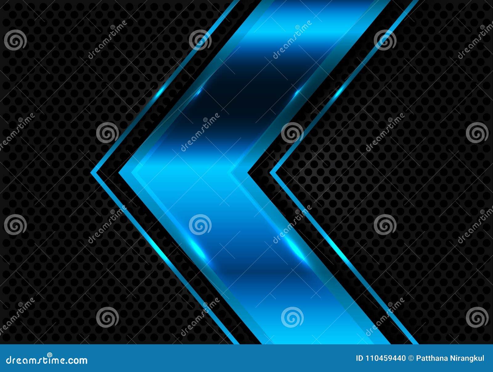 Abstrakt blå pil på modern futuristisk vektor för mörk cirkelingreppsdesign
