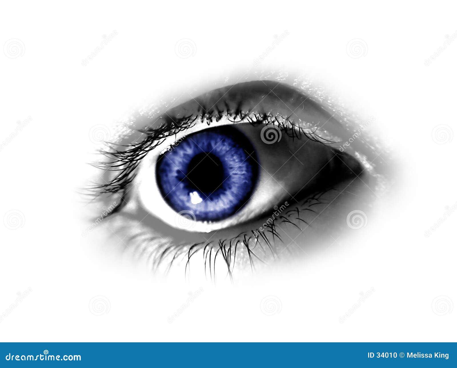 Abstrakt blått öga