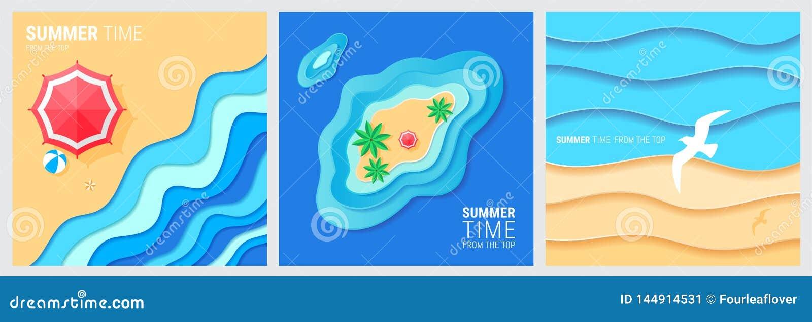 Abstrakt bl? havs- och strandsommarbakgrund