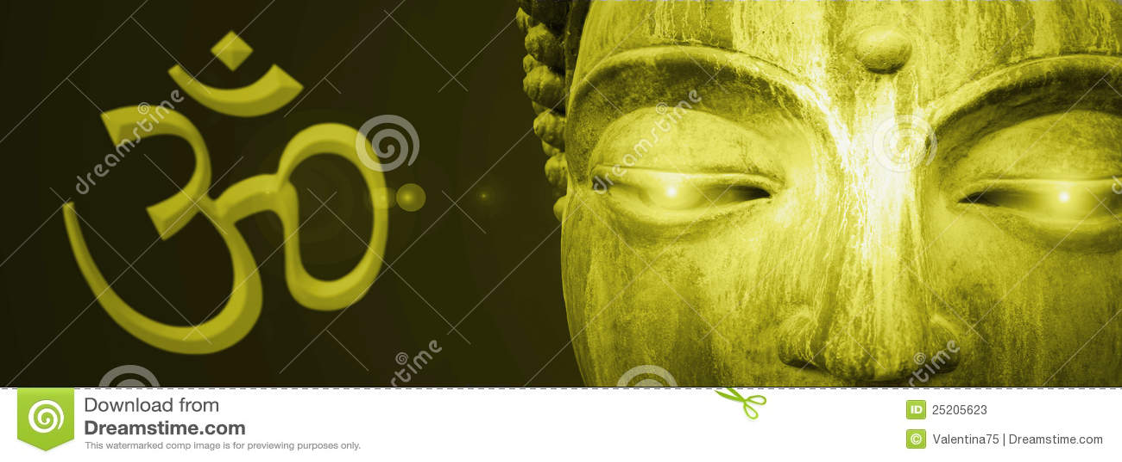Abstrakt buddha