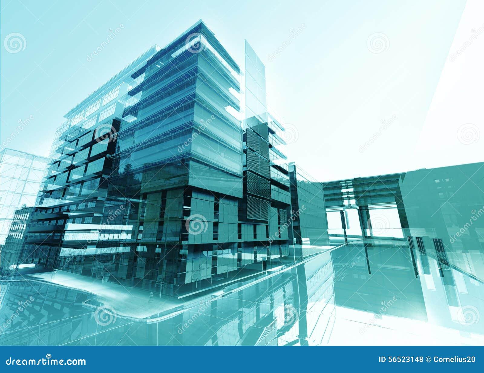 Abstrakt byggnad