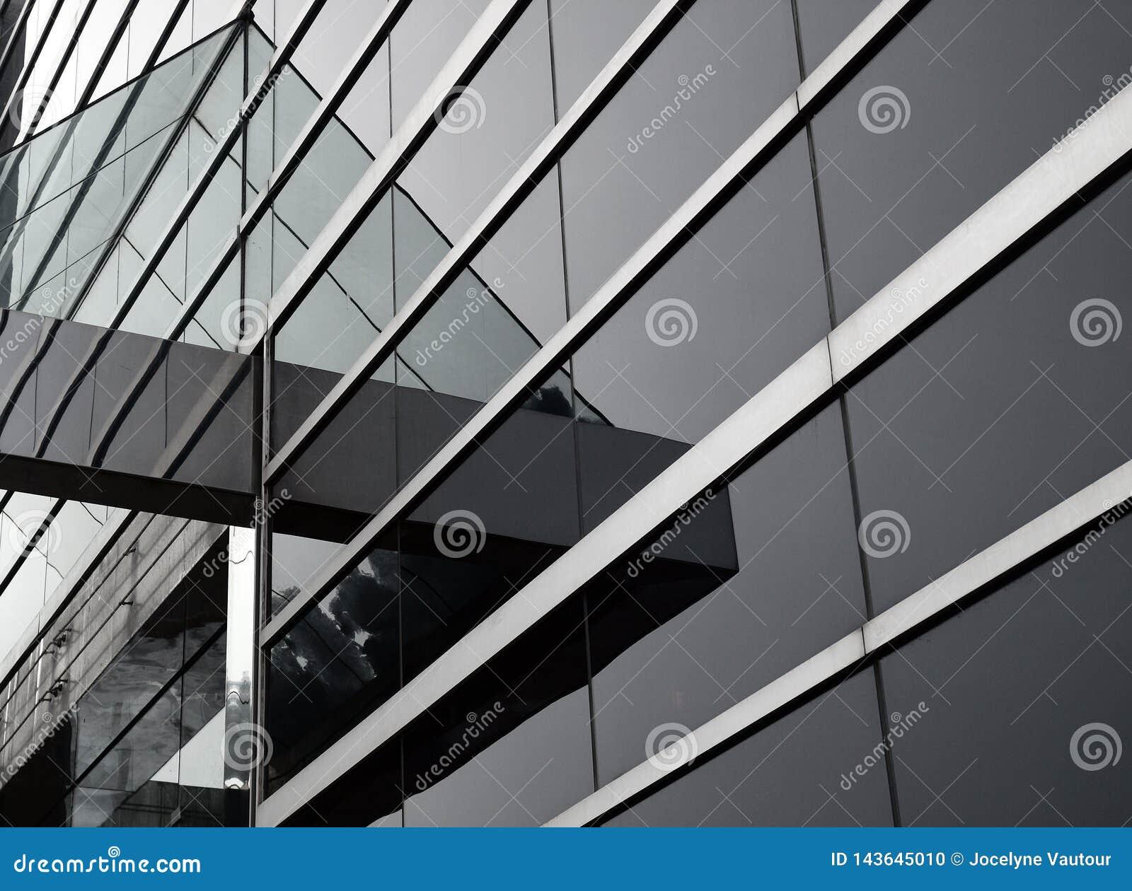 Abstrakt byggnadsexponeringsglas
