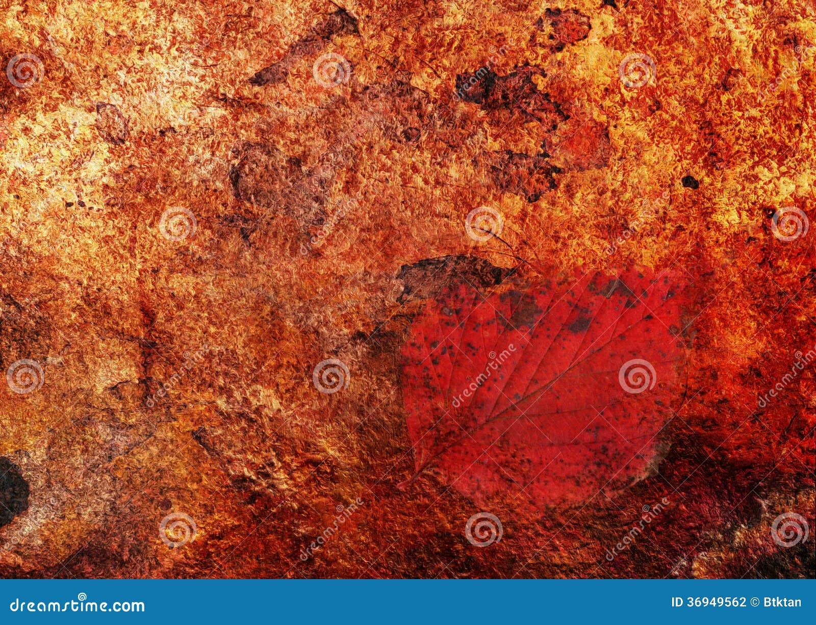 Abstrakt chujący liść