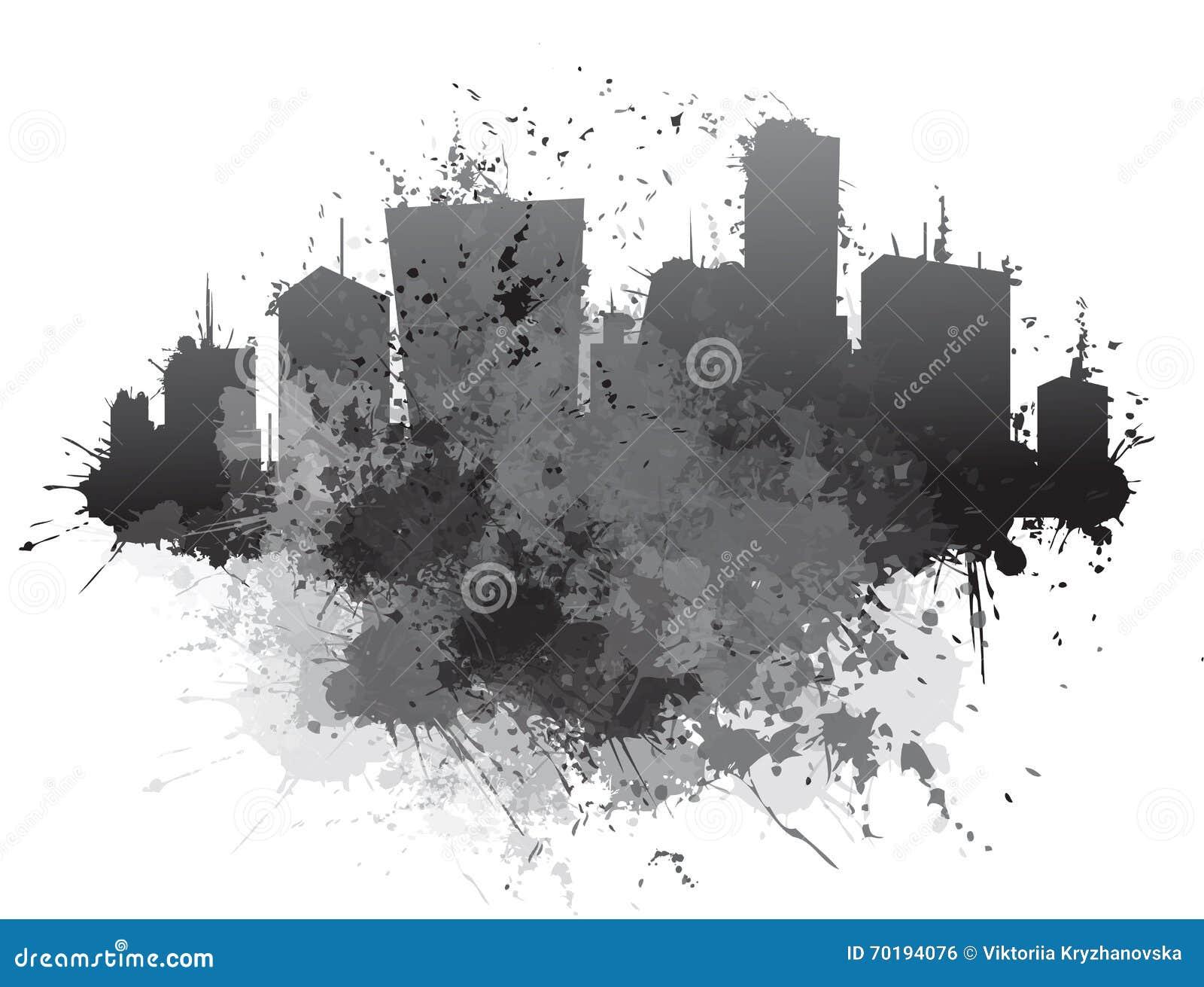 Abstrakt cityscape för vektor
