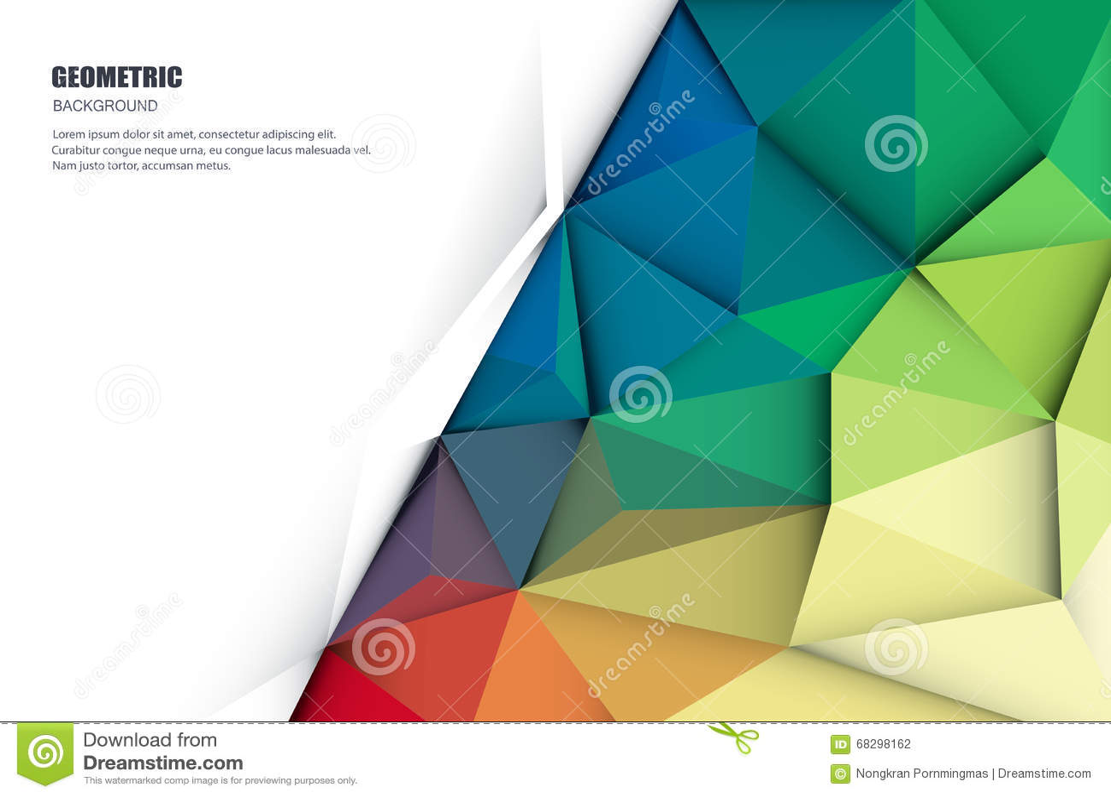 Abstrakt 3D Geometryczny, Poligonalny, trójboka wzór