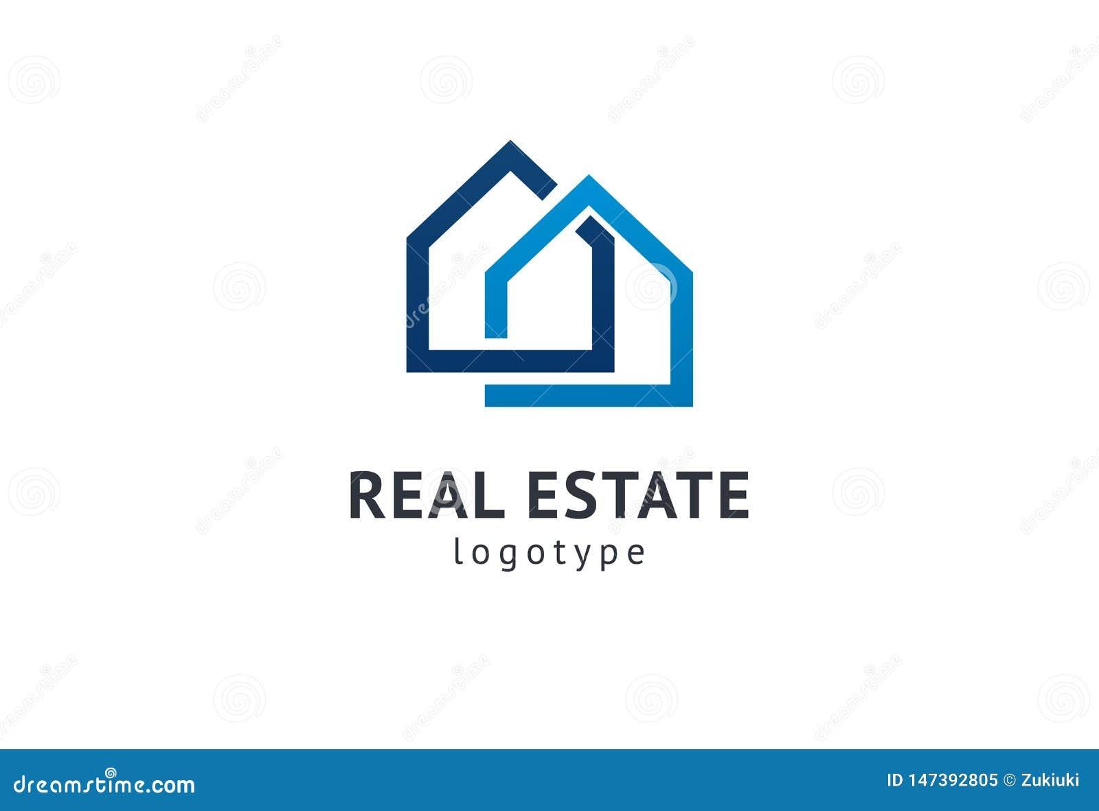 Abstrakt design f?r vektor f?r fastighetsm?klarelogosymbol Hyra f?rs?ljning av fastighetvektorlogoen, huslokalv?rd, hem- s?kerhet