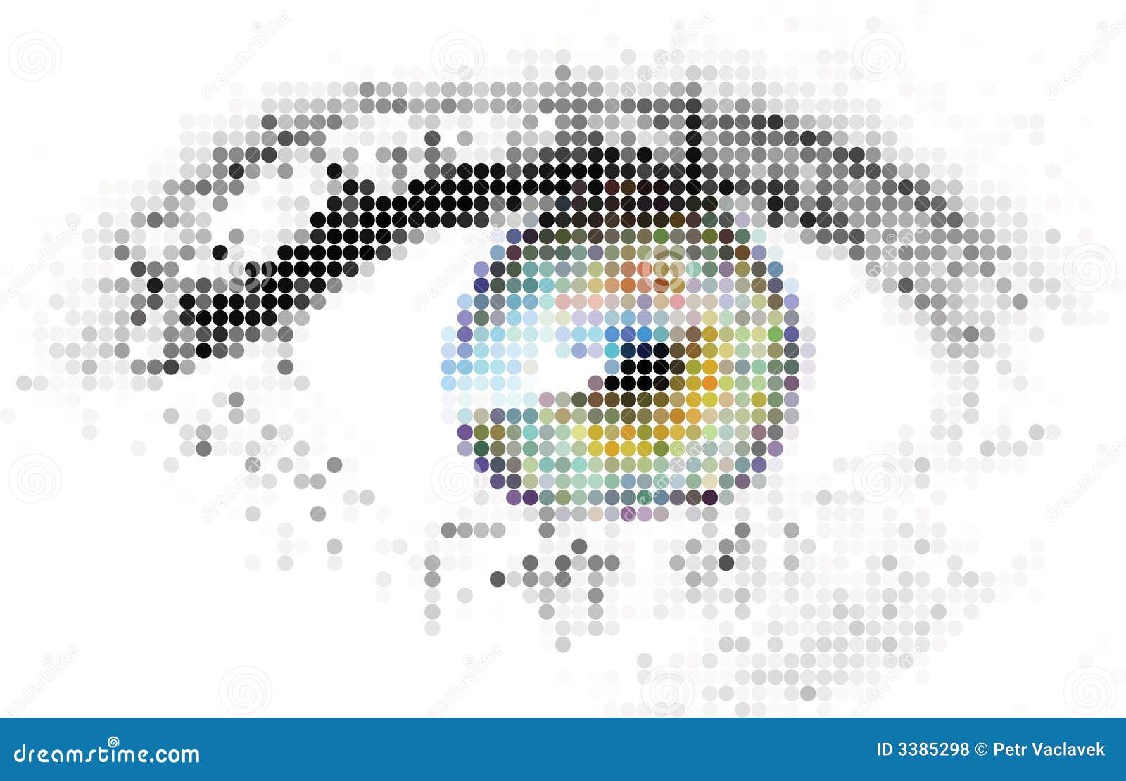 Abstrakt digital ögonhuman