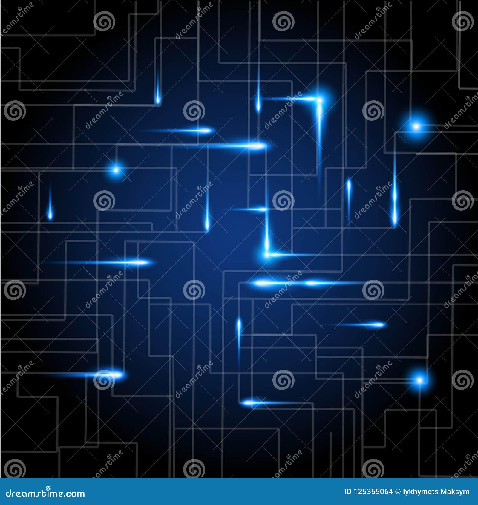 Abstrakt digital bakgrund med textur för teknologiströmkretsbräde Elektronisk moderkortillustration Kommunikation och tekniker