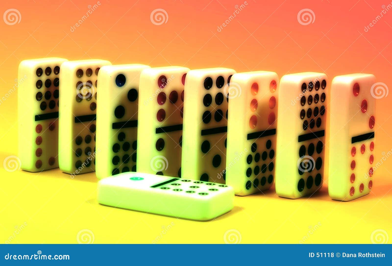 Abstrakt domino