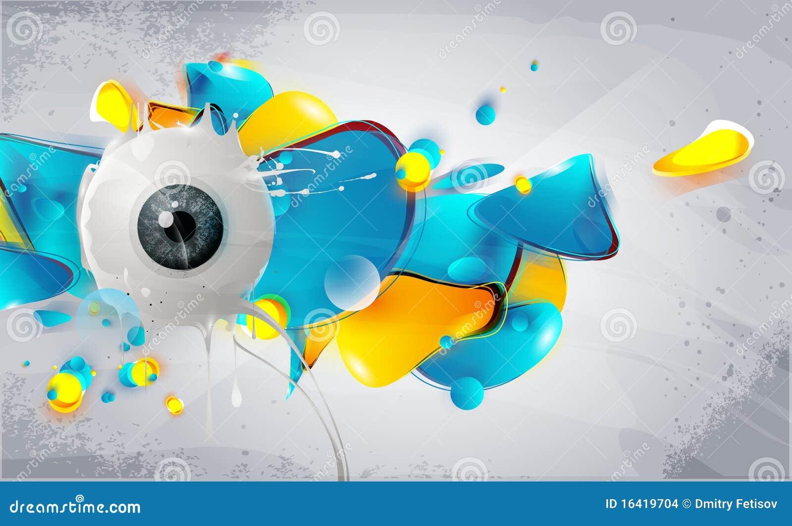 Abstrakt element eye humanen
