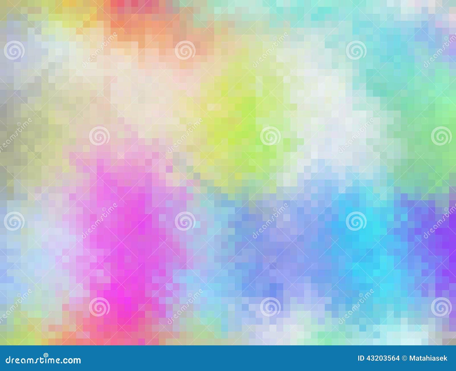 Download Abstrakt Färgglad Mosaik-pixelatedbakgrund Stock Illustrationer - Illustration av kvinnligt, begrepp: 43203564