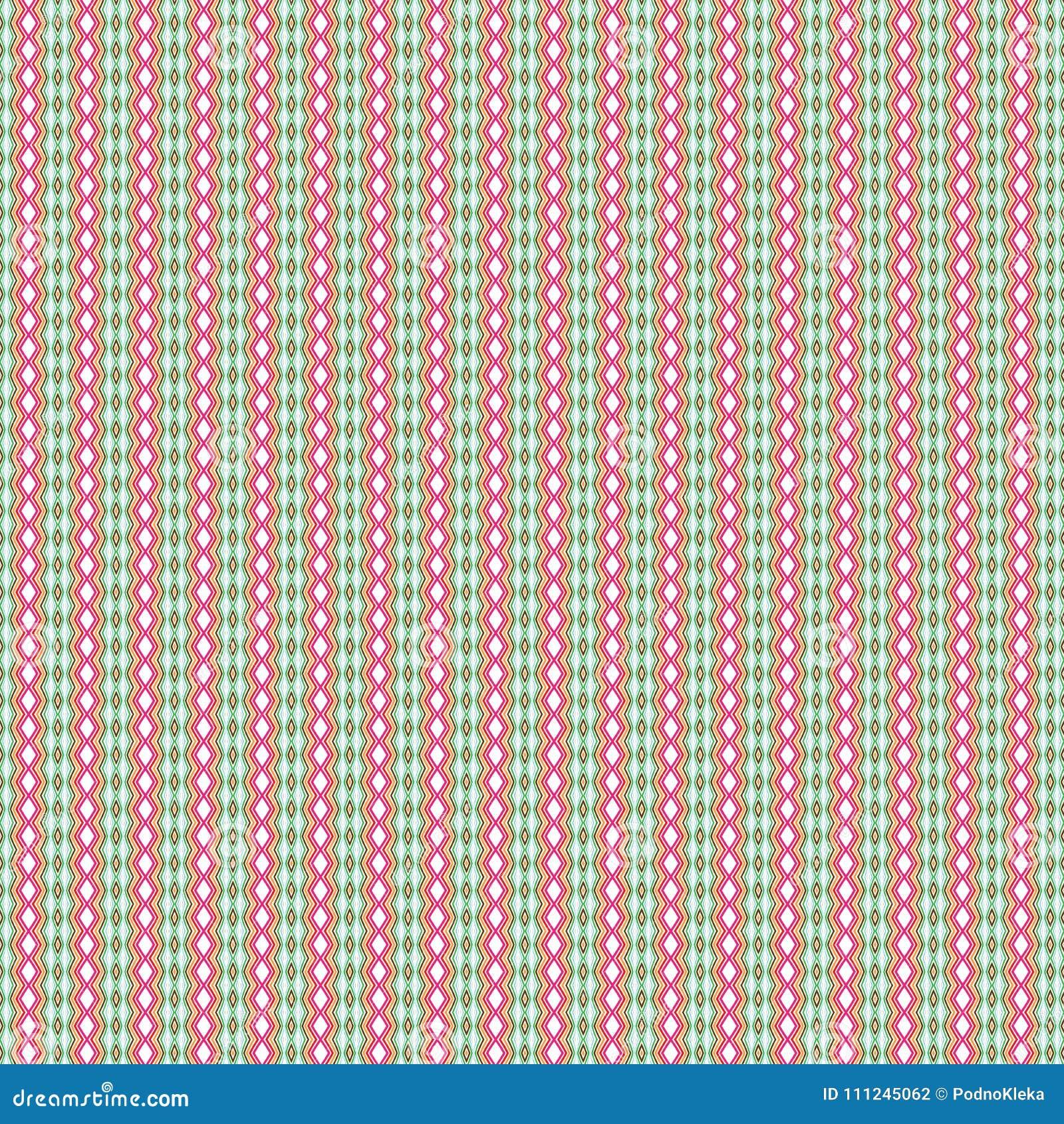Abstrakt färglyx belägger med tegel Diamond Rhombus Ethnic Pattern Background