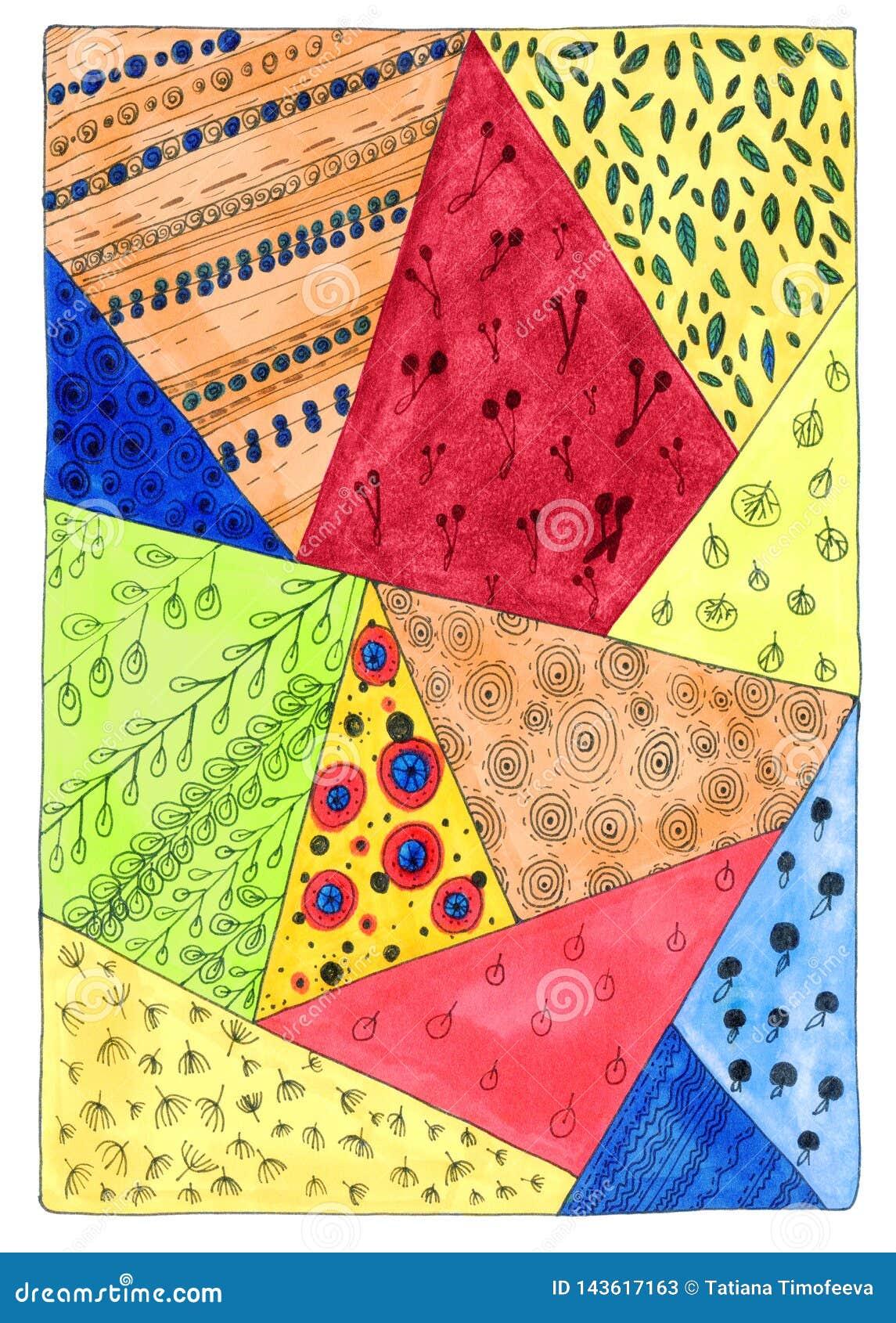 Abstrakt färgrik bakgrund i klotterstil