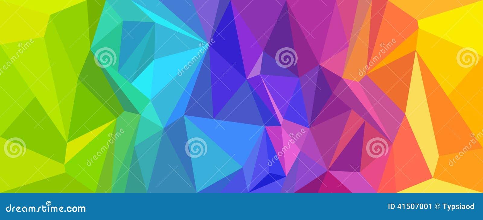 Abstrakt färgrik bakgrundspolygon