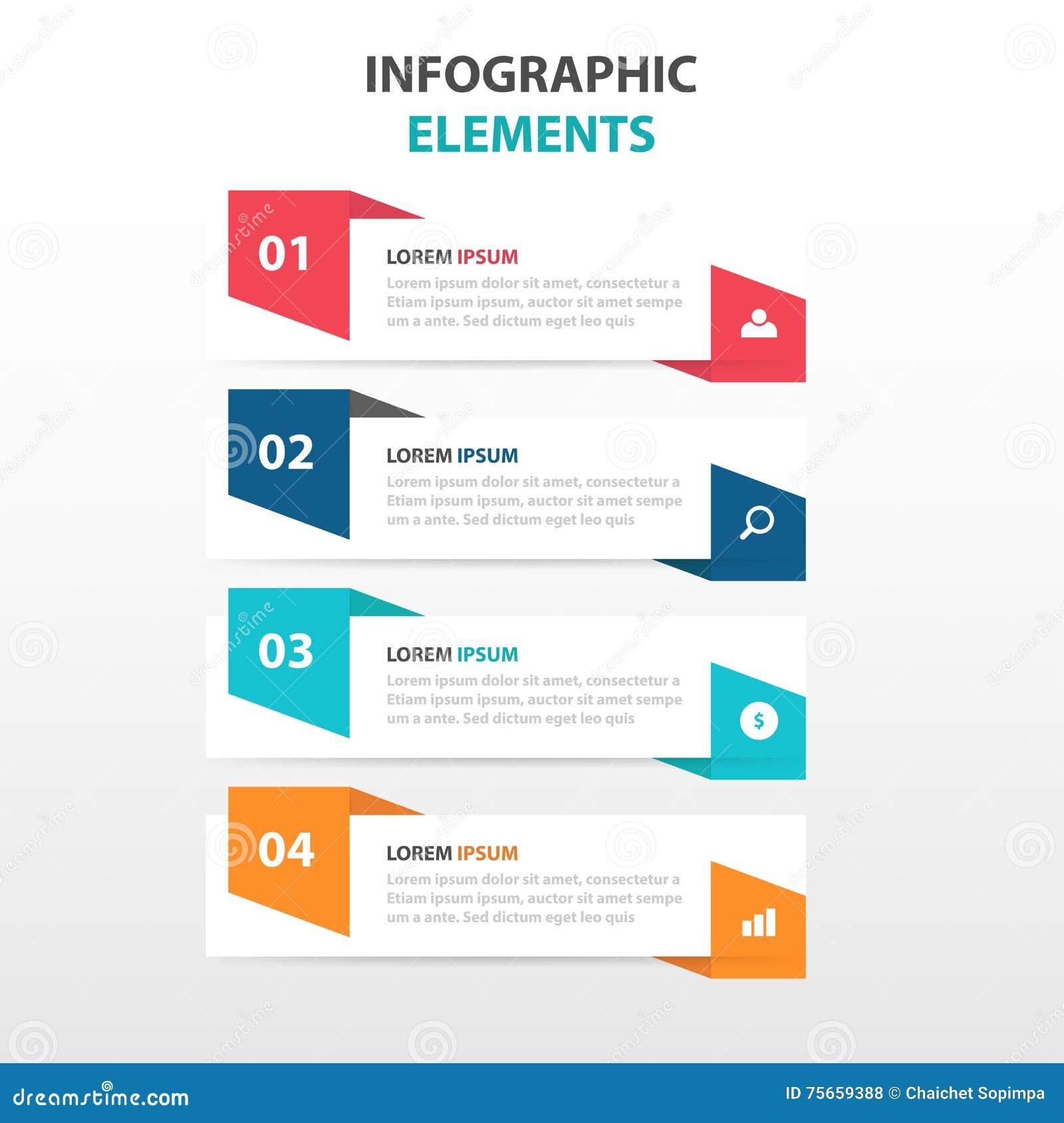 Abstrakt färgrik etikett med förstoringsglasaffärsInfographics beståndsdelar, vektor för design för presentationsmalllägenhet
