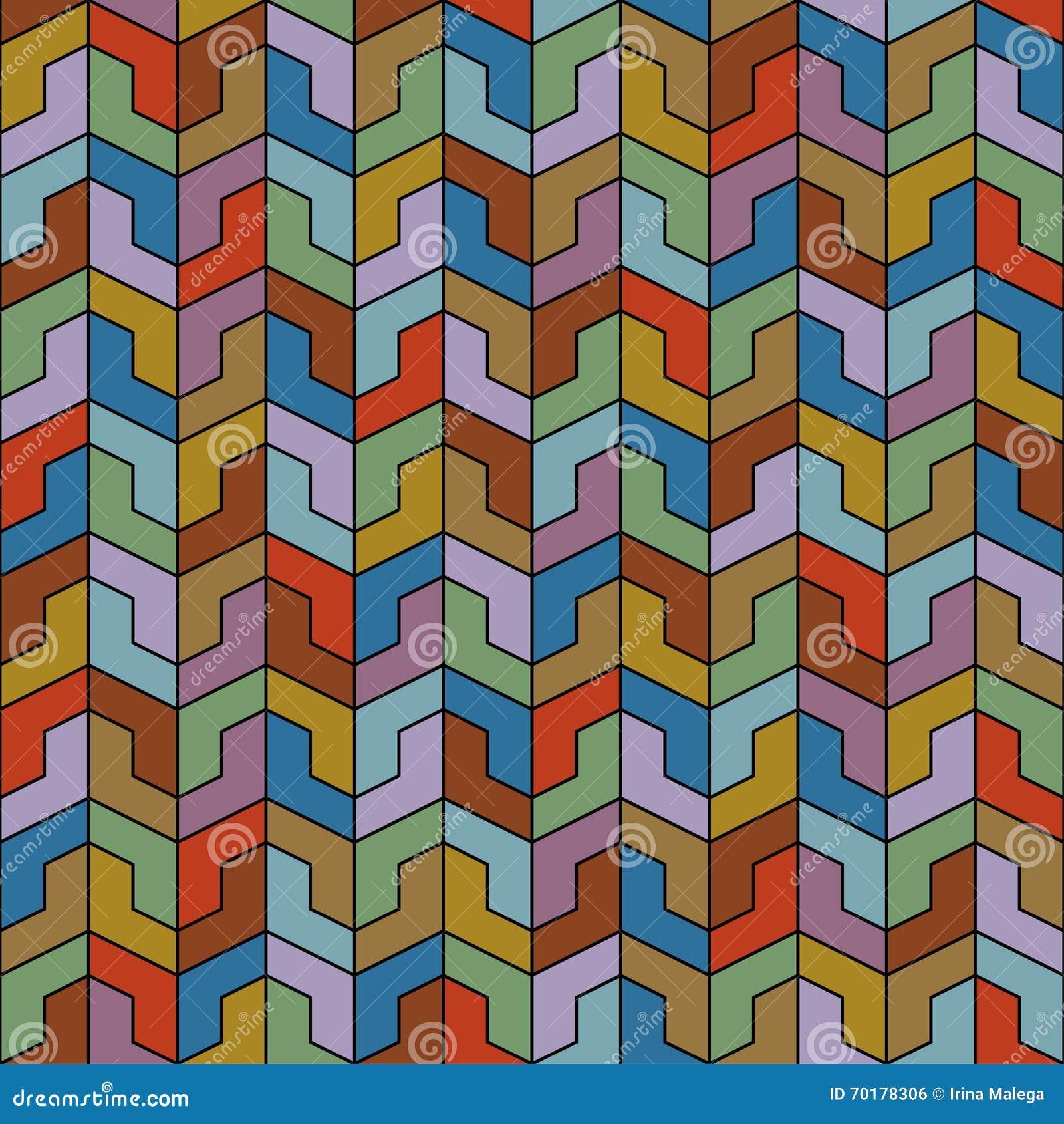 Abstrakt färgrik geometrisk sömlös modellbakgrund