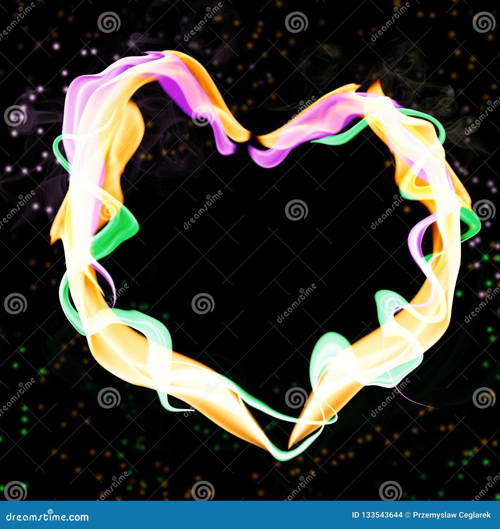 Abstrakt färgrik hjärta