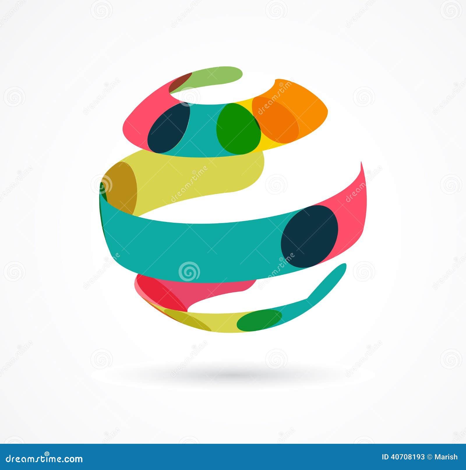 Abstrakt färgrik jordklotaffärssymbol