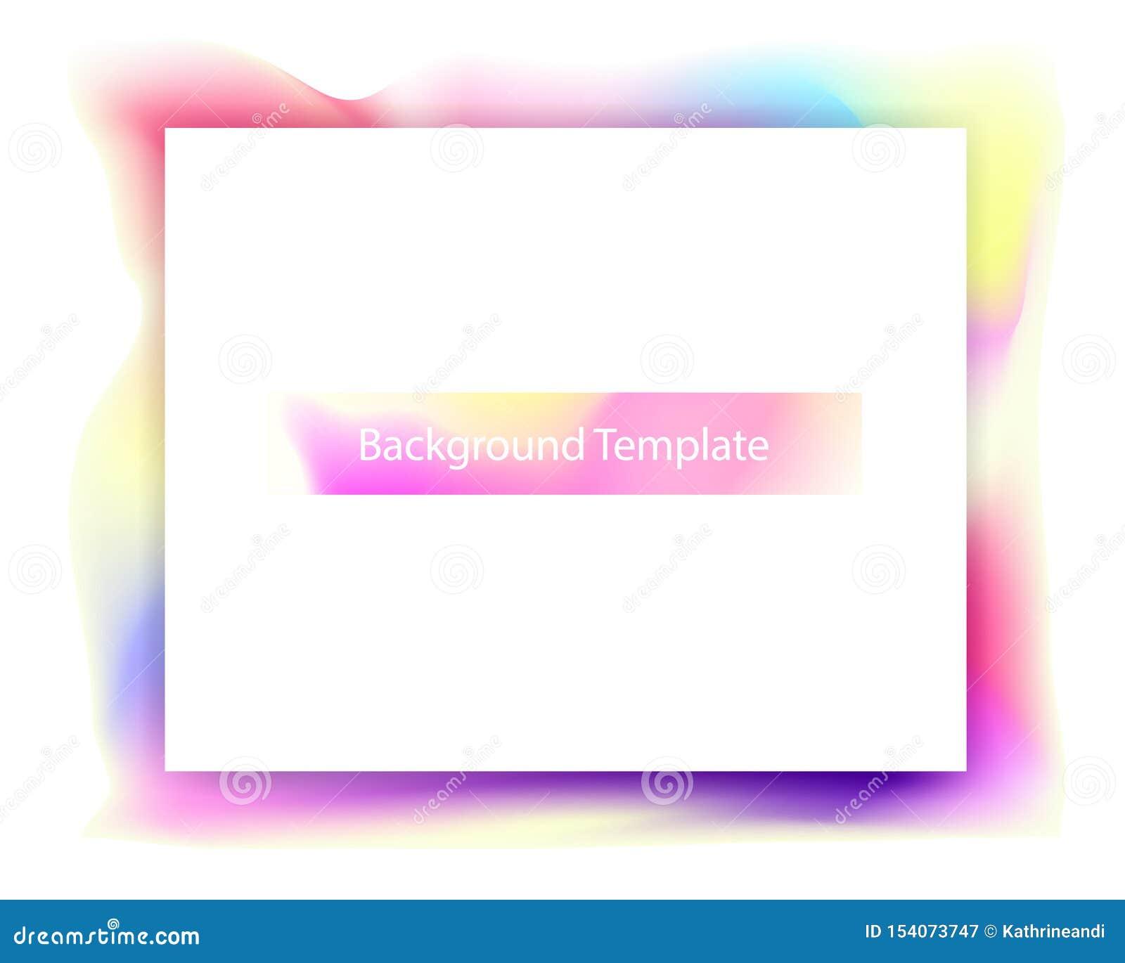 Abstrakt färgrik mallbakgrund med titel
