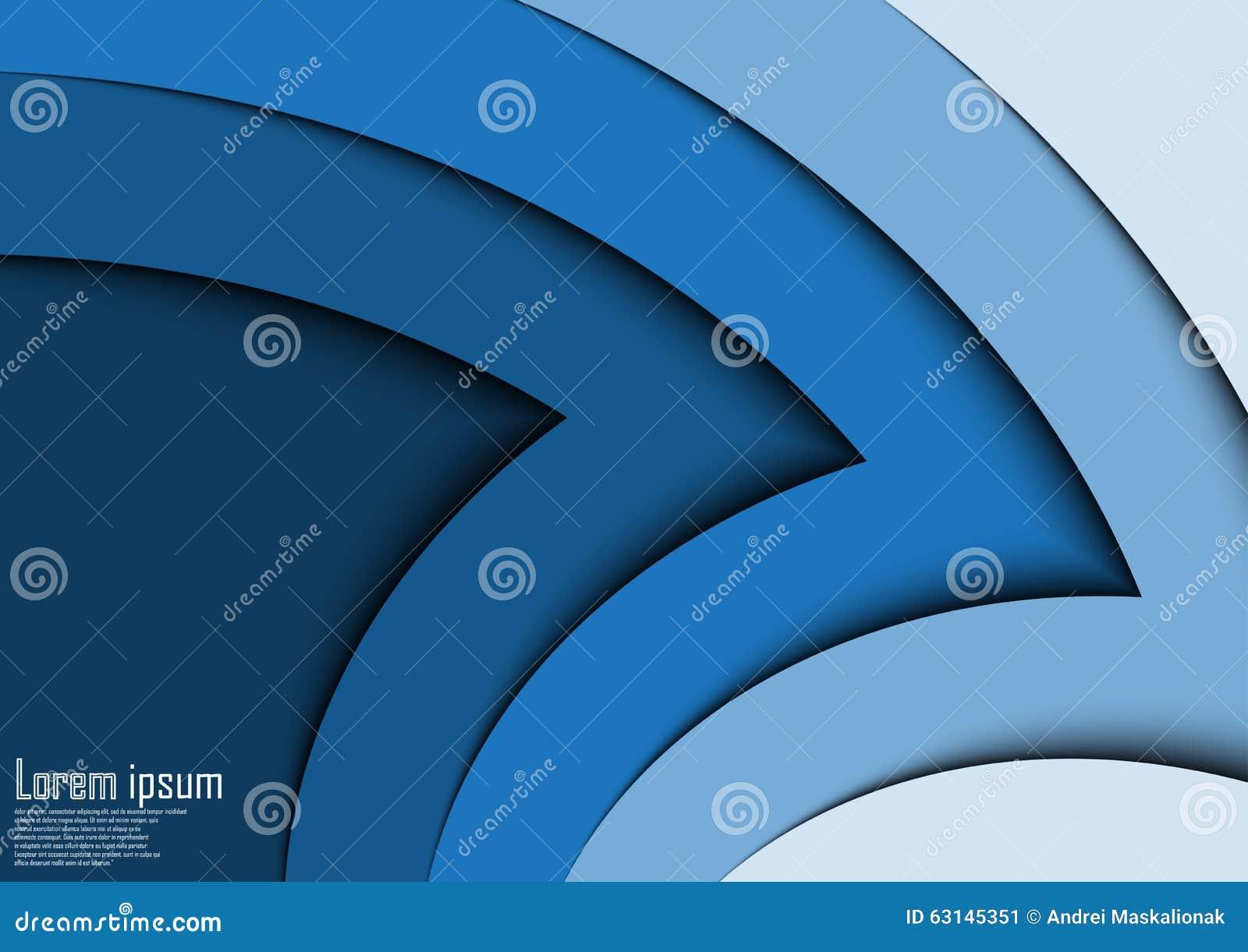 Abstrakt för pilvåg för blått 3d linje certifikatabstrakt begreppbakgrund