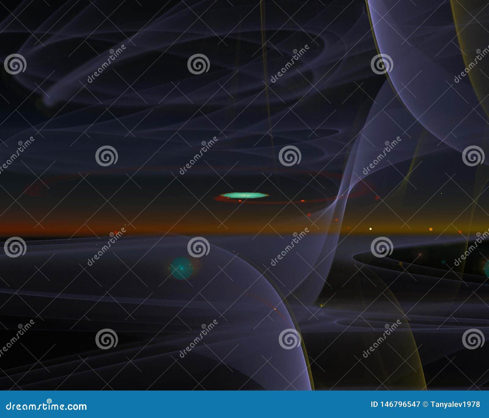 Abstrakt, fantazja, graficzny kształta sen pojęcia projekta energetyczny tło cyfrowy, fractal, władzy nauka