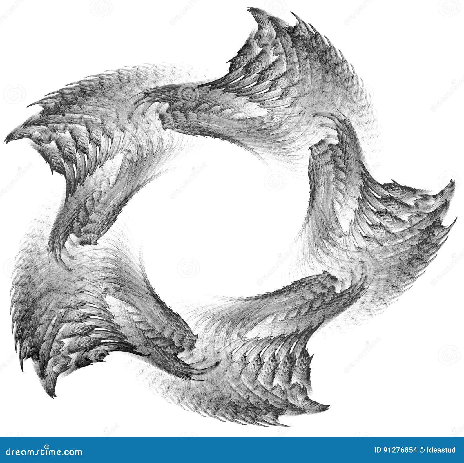 Abstrakt fractalillustration för idérik design