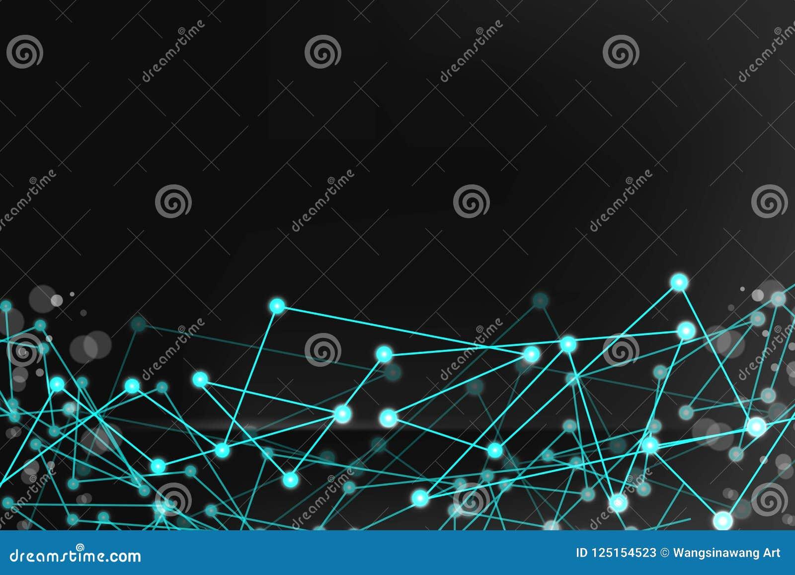 Abstrakt futuristisk form dator frambragd head mantråd Teknologisk anslutning för bakgrundsvektor för mörk färg illustration