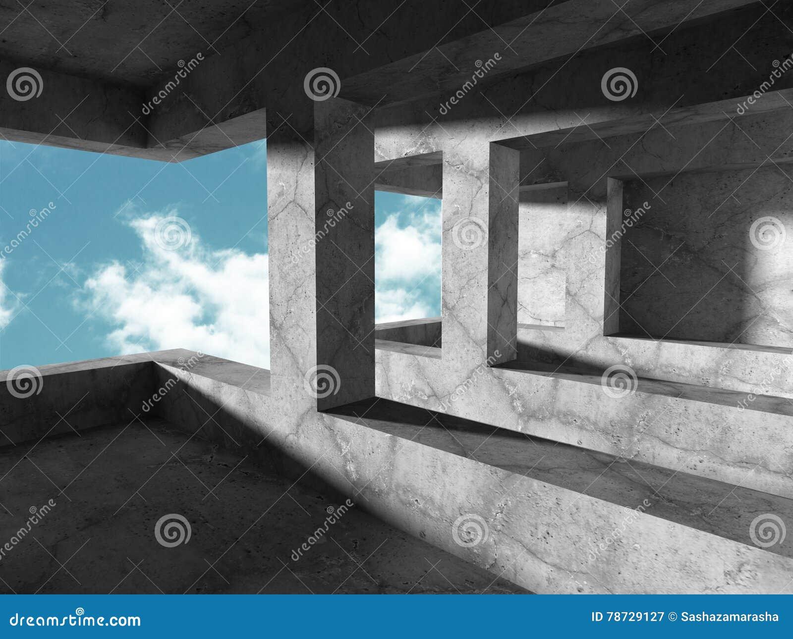 Abstrakt geometrisk arkitekturbetongbakgrund