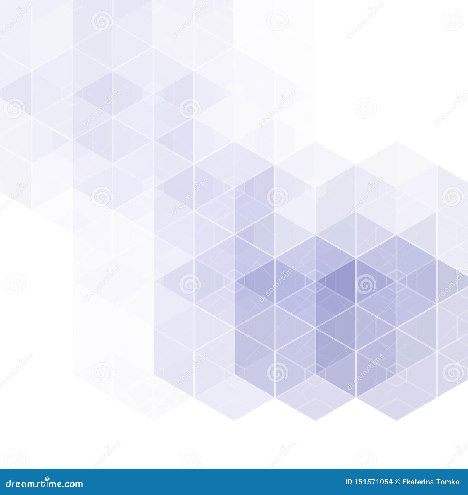 Abstrakt geometrisk bakgrund f?r vektor Mallbroschyrdesign Bl? sexh?rningsform 10 eps