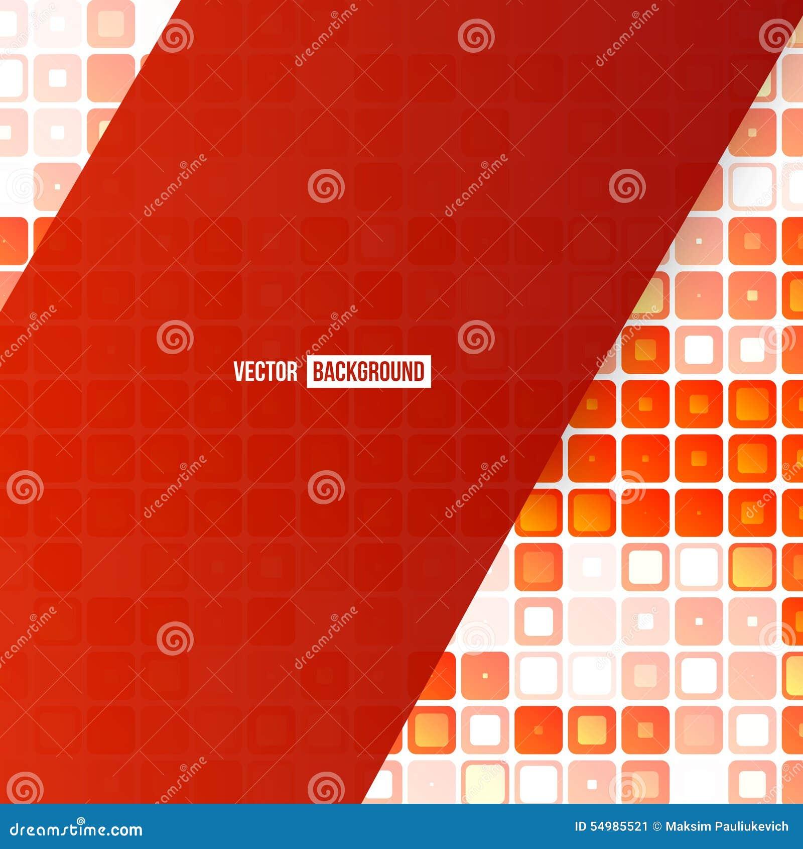 Abstrakt geometrisk form för vektor från rött