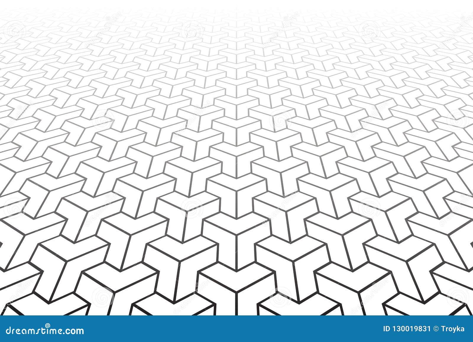 Abstrakt geometrisk modell minska perspektiv