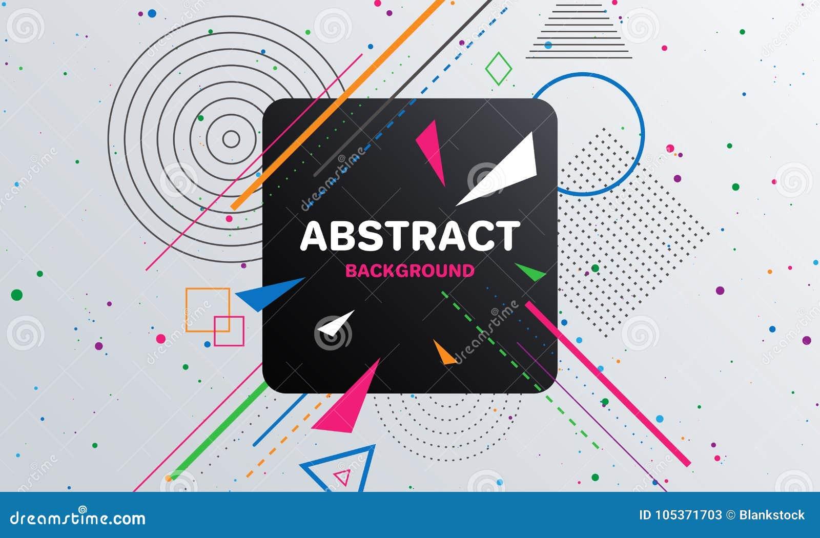 Abstrakt geometrisk modellbakgrund med fyrkanten