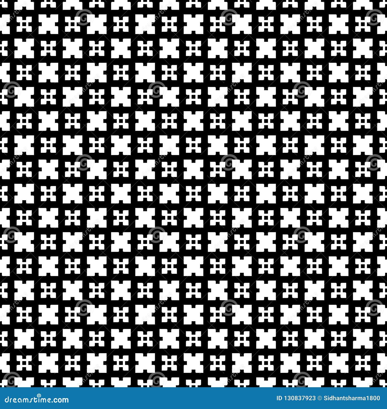 Abstrakt geometrisk sömlös modell i svartvitt, vektor Design som är industriell