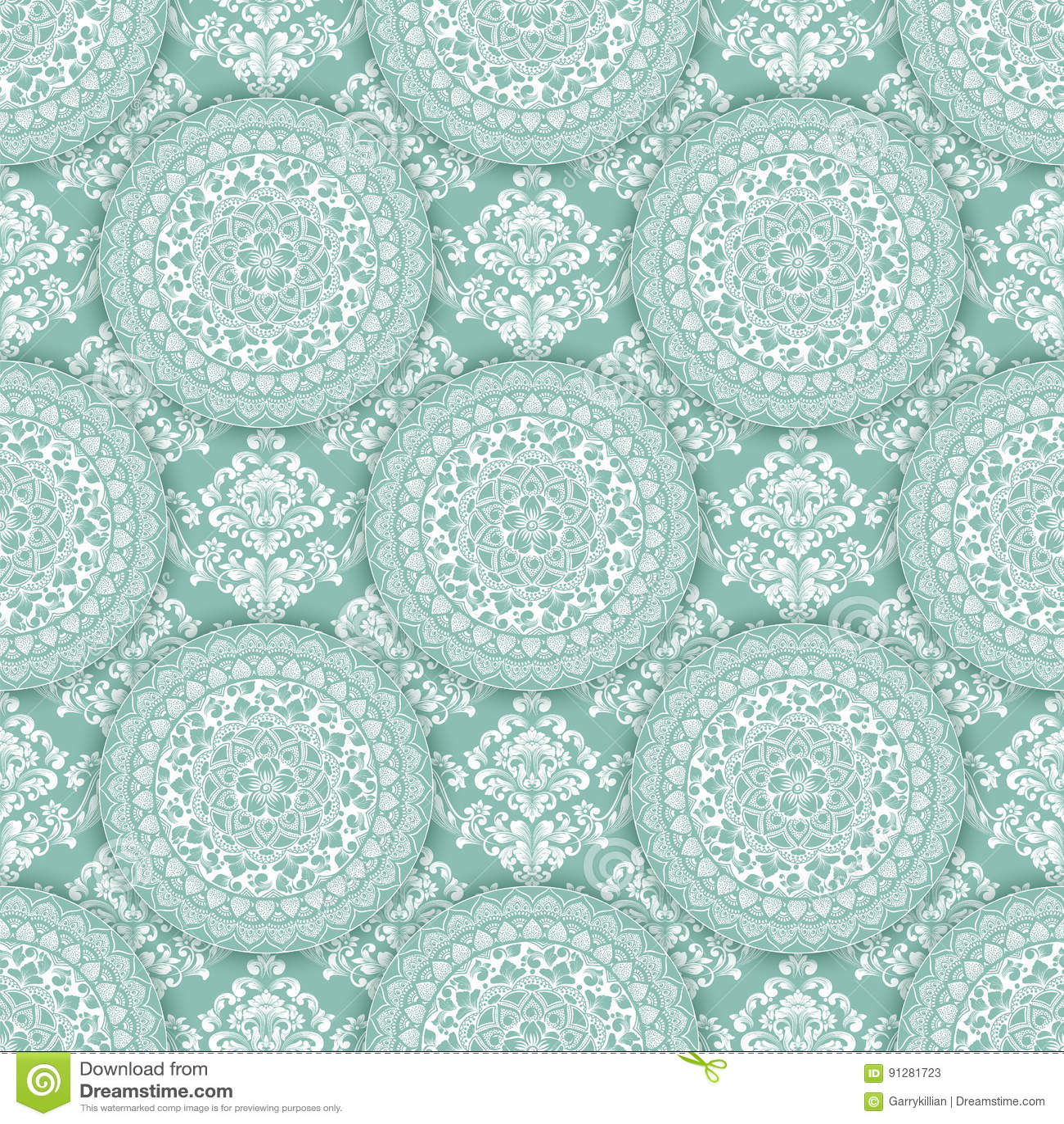 Abstrakt geometrisk sömlös modellbakgrund med blom- beståndsdelar Zentagle-stil modellprydnad