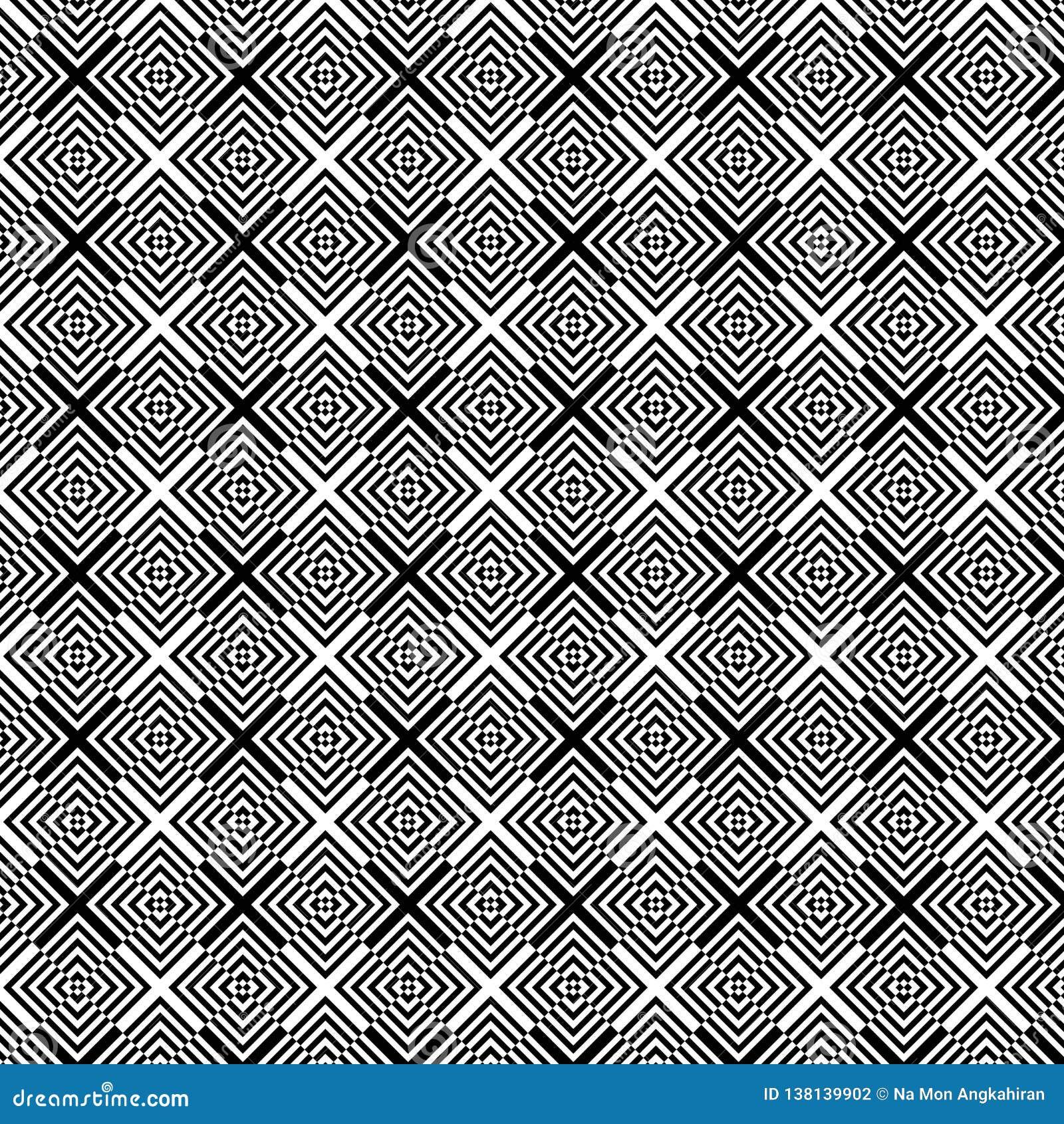 Abstrakt geometrisk svartvit modellbakgrund för op konst