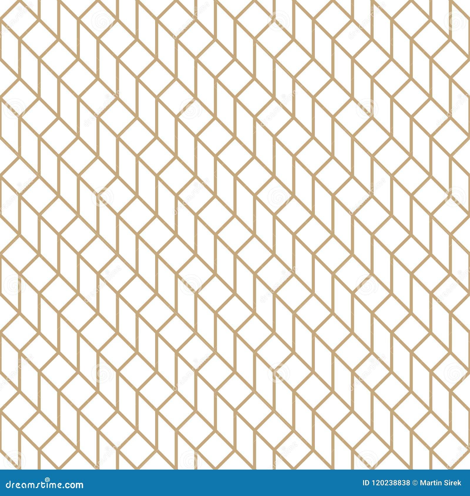 Abstrakt geometriskt raster Guld- minsta tryckmodell för grafisk design