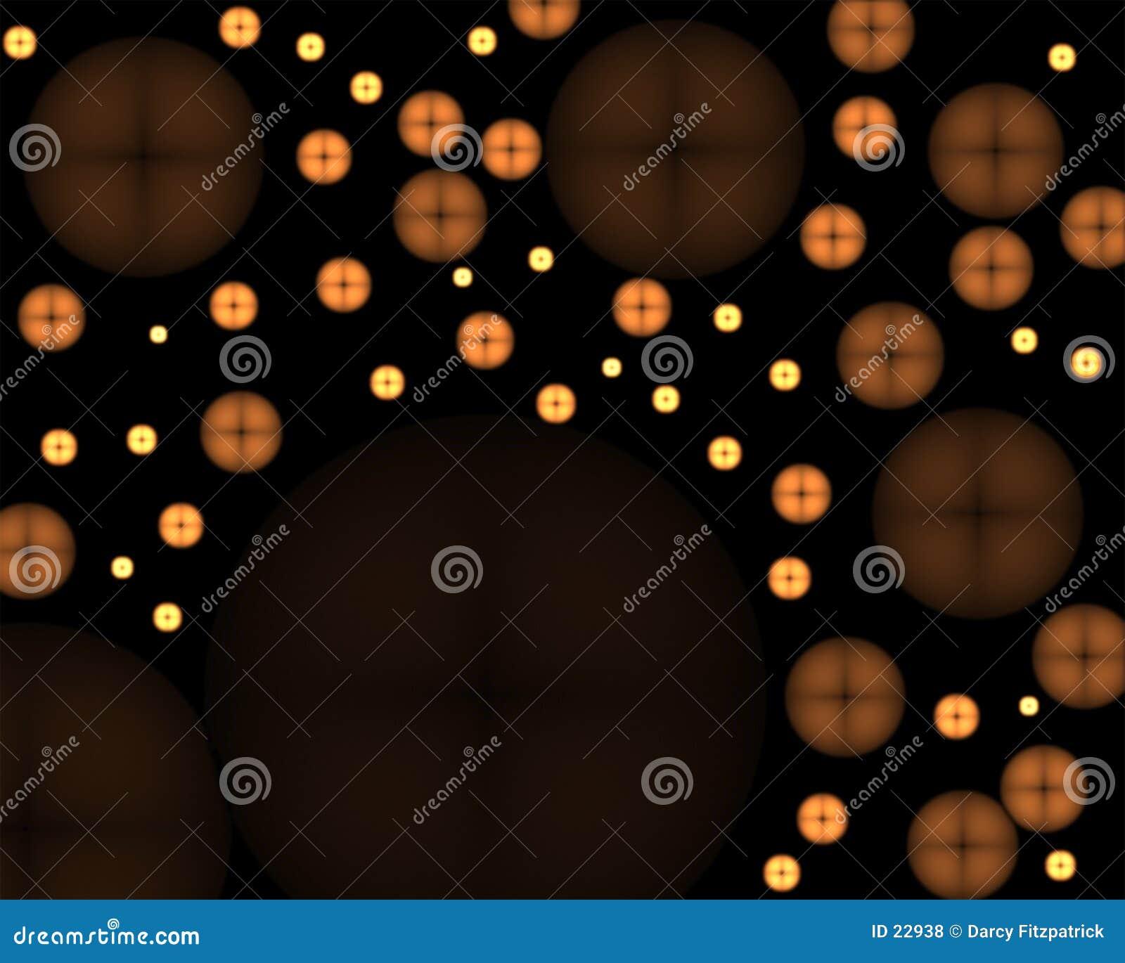Abstrakt glöda för knappar