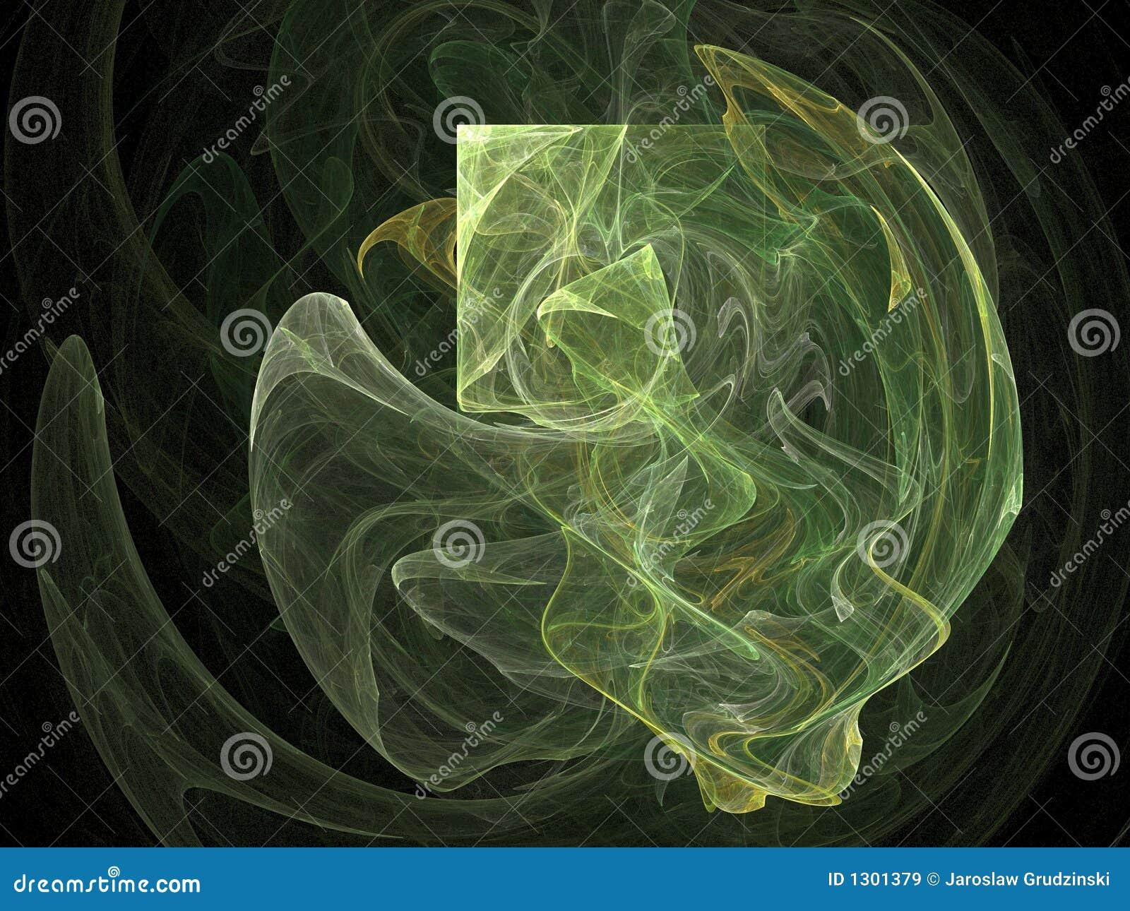 Abstrakt grön form