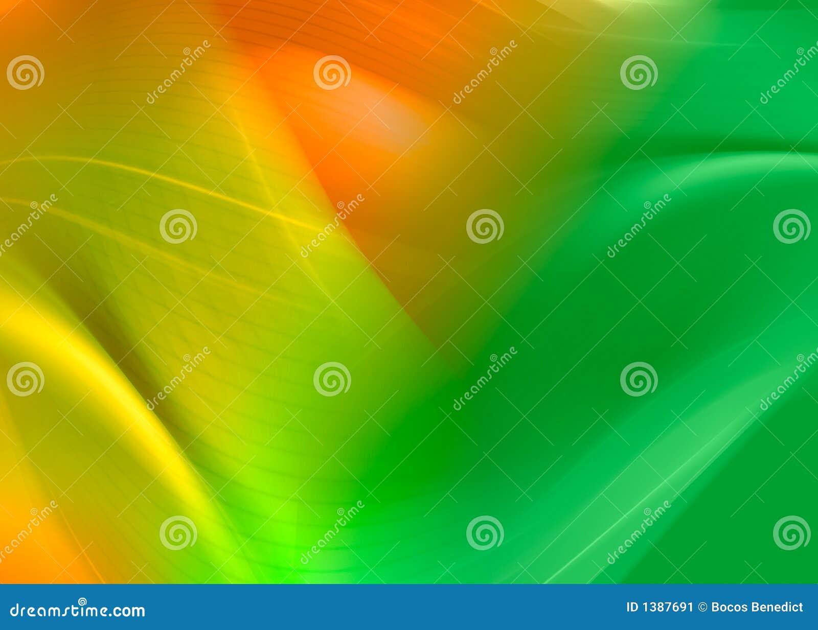 Abstrakt grön orange