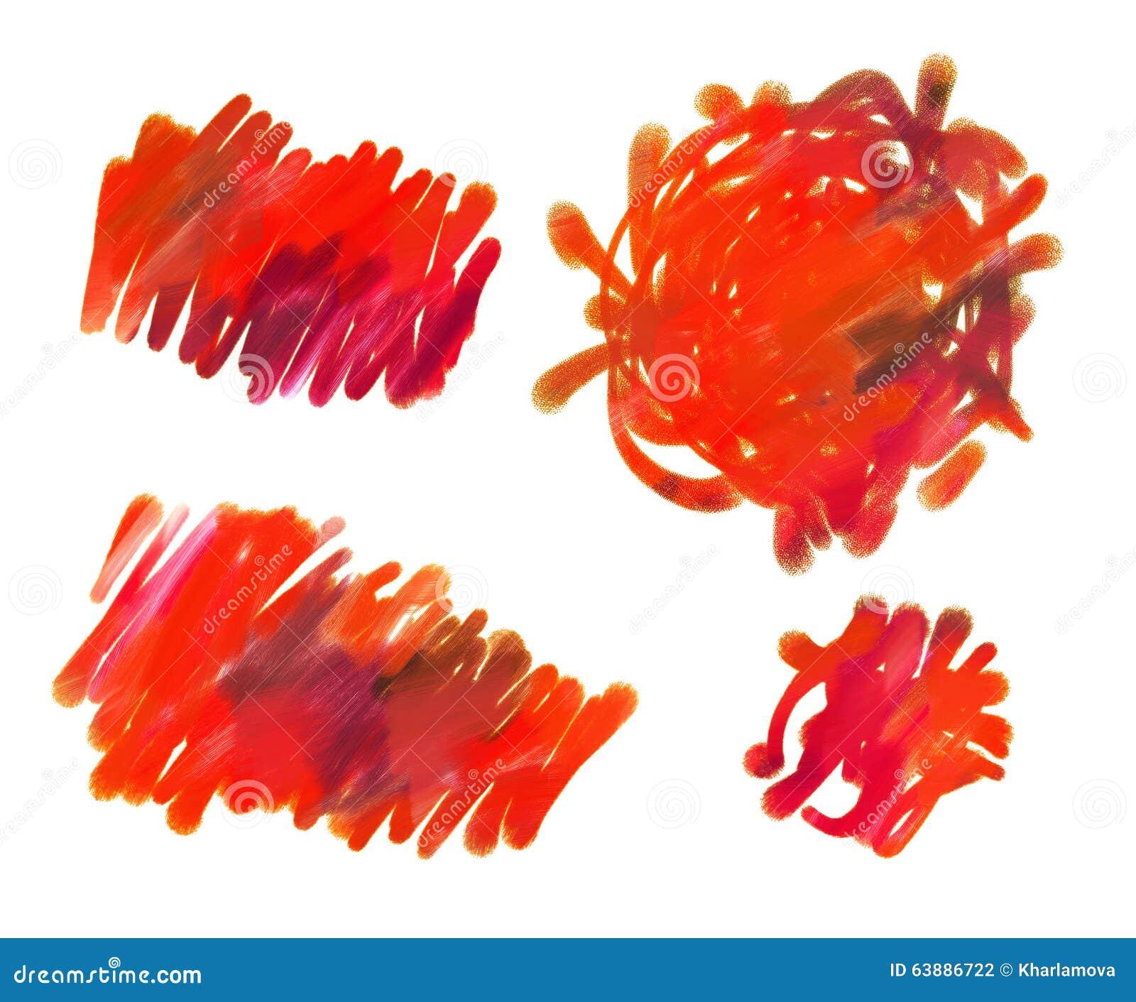Abstrakt guaschmålning