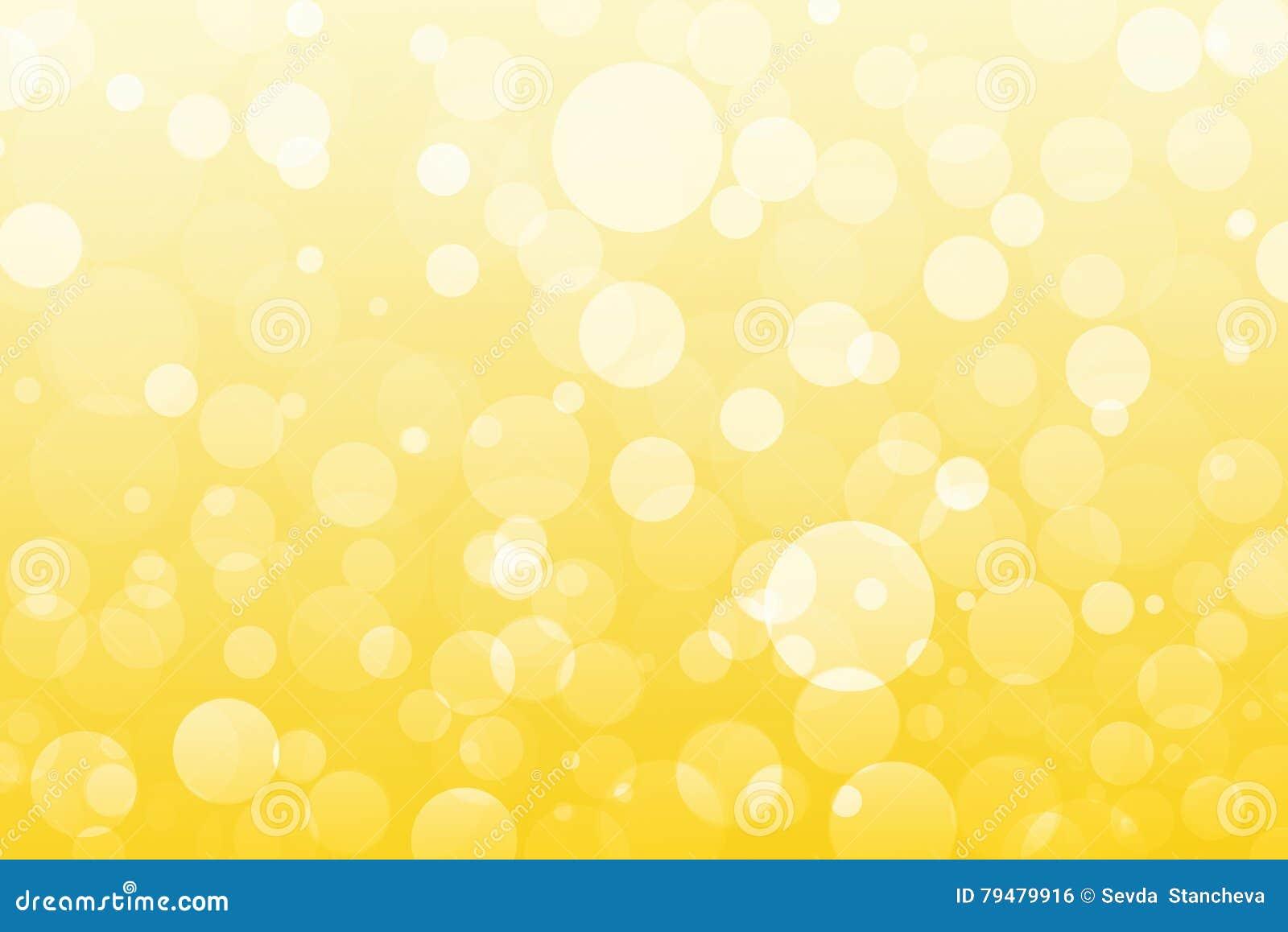 Abstrakt guling, guld- ljus, bokehbakgrund