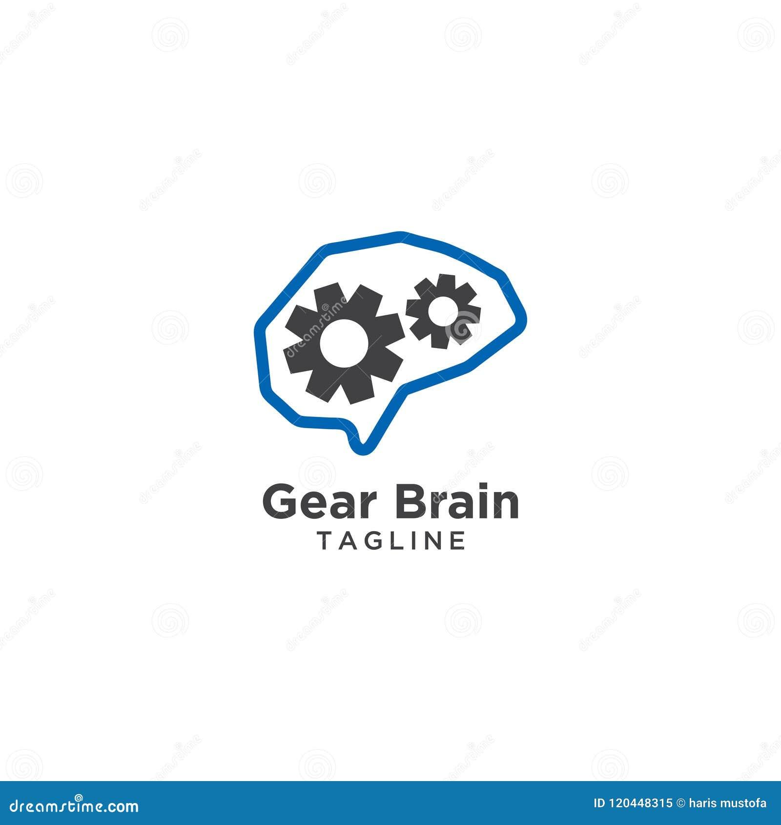 Abstrakt hjärnlogomall